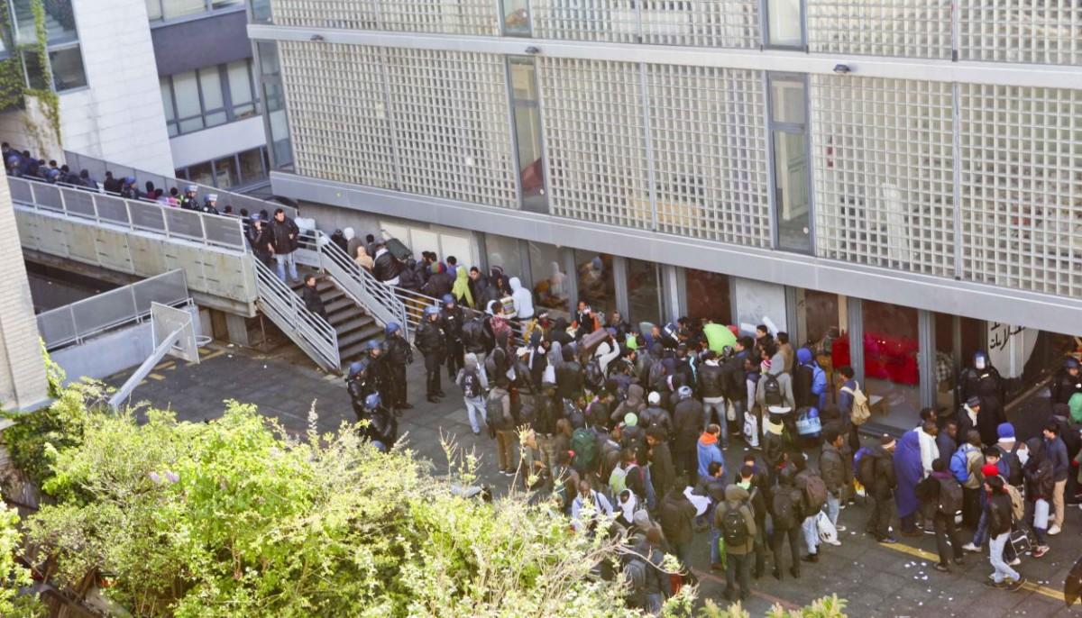Evacuation rue Clavel des réfugiés